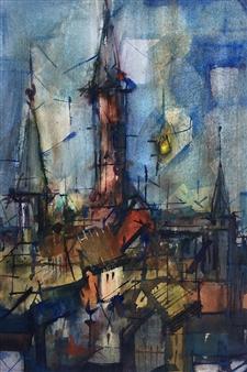 """Campanario Watercolor 18"""" x 11.5"""""""