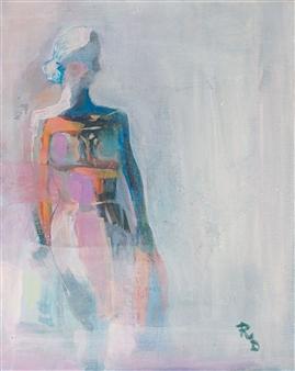 "Good Lady Acrylic on Canvas 19.5"" x 15.5"""