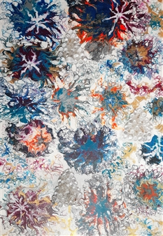 "Fireworks Oil on Canvas 36"" x 24"""