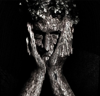 """The Melted Thinker Archival Pigment Print 35.5"""" x 35.5"""""""