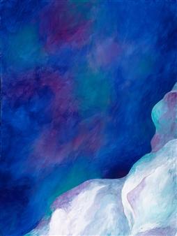"Alpine Lake Acrylic on Canvas 24"" x 18"""