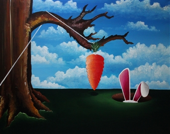"Temptation Acrylic on Canvas 24"" x 30"""