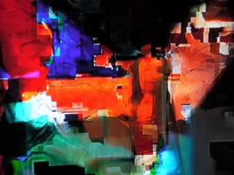 "Immortalité Digitale VI Mixed Media on Canvas 20"" x 28"""
