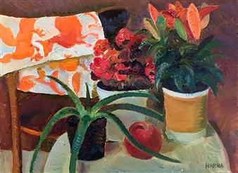 """Still Life with Aloe_1 Oil on Canvas 18"""" x 24"""""""