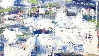 "Behind Blue Eyes Acrylic on Canvas 58"" x 100"""