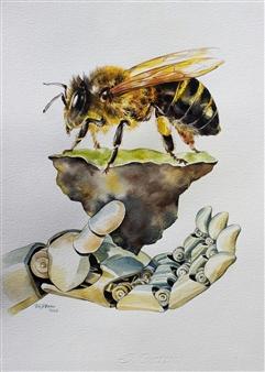 "Pledge - 2 Watercolor on Paper 14"" x 10"""