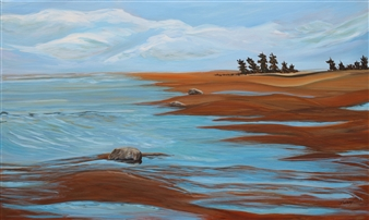 """Georgian Bay Acrylic on Canvas 24"""" x 40"""""""