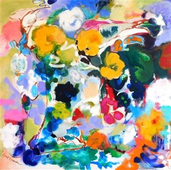 "Vines Acrylic on Canvas 36"" x 36"""