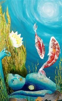 """Sedna Acrylic & Oil on Canvas 29"""" x 18"""""""