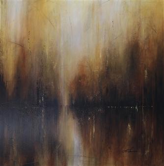 "The Rising Acrylic & Oil on Canvas 36"" x 36"""