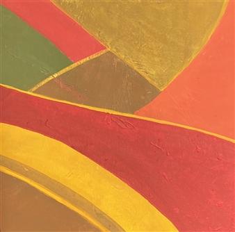 """Campo en Otoño Acrylic & Gesso on Canvas 18"""" x 18"""""""