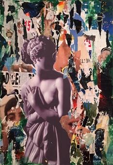 """La Dolce Venere Collage on Canvas 39.5"""" x 28"""" x 2"""""""