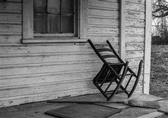 "Abandoned Porch Archival Pigment Print 12"" x 18"""