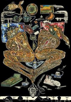 "Tree Gouache & Ink on Paper 38"" x 26"""