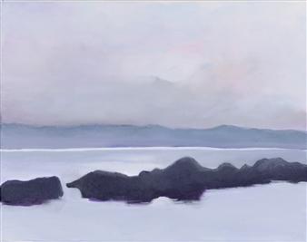 "Croton Landing Soft Night Acrylic on Canvas 11"" x 14"""