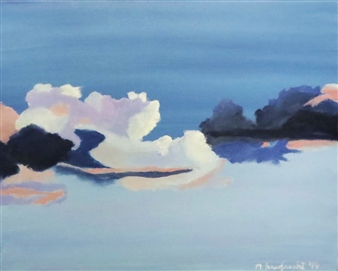 """Clouds Oil on Canvas 16"""" x 20"""""""
