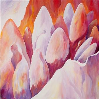 """Cappadocia 4 Summer Star Seeds Acrylic on Canvas 24"""" x 24"""""""