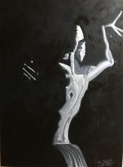 "Desde la Penumbra Oil on Canvas 27.5"" x 19.5"""