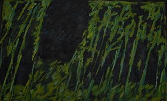 "Night in the Garden Oil & Acrylic on Canvas 45.5"" x 68.5"""