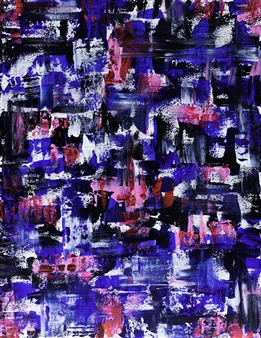 """Energetic Acrylic on Canvas 35.5"""" x 27.5"""""""