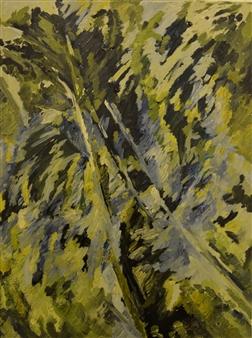 """Tropical Oil & Acrylic on Canvas 40.5"""" x 30"""""""