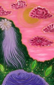 "Waterfall of Life Acrylic on Canvas 41.5"" x 27.5"""
