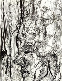"Profiles Pen on Paper 16"" x 12.5"""
