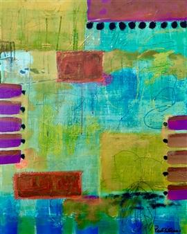 "Untitled #173 Acrylic on Canvas 20"" x 16"""