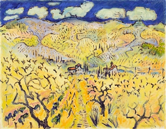 "Path to Hills Chianti Oil on Canvas 28"" x 35.5"""