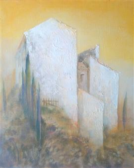 "Chez Madame Delaur Acrylic on Canvas 31.5"" x 25.5"""
