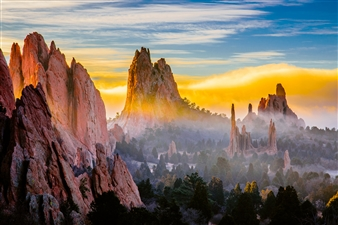 """Magical Sunrise At the Garden of the Gods - John Pence - United States Photograph 0"""" x 0"""""""