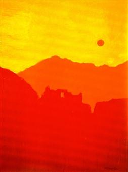 "Machu Pichu Heights Oil on Canvas 72"" x 54"""