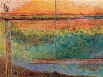 """Escape I & II Oil on Canvas 40"""" x 60"""""""