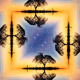 "Tree of Life Digital Print on Canvas 39"" x 28"""