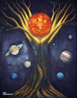 """Creation Oil on Canvas 35.5"""" x 27.5"""""""