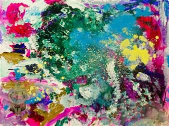 """Secret Garden Acrylic & Oil on Canvas 30"""" x 40"""""""