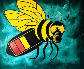 "Danger Acrylic on Canvas 19.5"" x 27.5"""