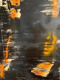 "Back to Black Acrylic on Canvas 23.5"" x 19.5"""