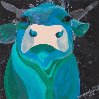 "Walli Acrylic on Canvas 31.5"" x 31.5"""