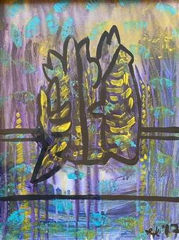 "Silhouette 6 Acrylic on Canvas 19"" x 15"""