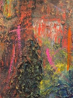 """Main Street Tokyo Mixed Media on Canvas 48"""" x 36"""""""