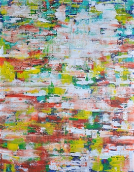 "La Promenade 1 Acrylic on Canvas 39.5"" x 32"""