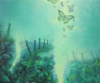 """Tierraviva Oil on Canvas 20"""" x 24"""""""