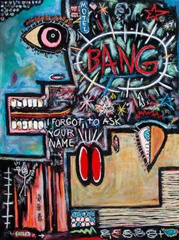 "Motel Bang Acrylic on Canvas 48"" x 36"""