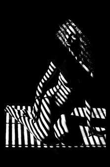 "Stripes III Silver Gelatin Print 35.5"" x 23.5"""