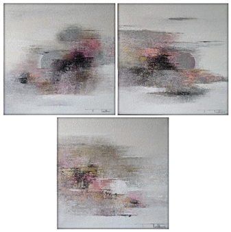 The Moon 7, triptych