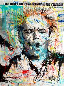 """I Am Who I Am Mixed Media on Canvas 63"""" x 47"""""""