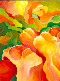 "Cappadocia 7 Animal Fantasy Acrylic on Canvas 24"" x 18"""