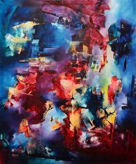 """Los Demonios te Están Llamando Oil on Canvas 47.5"""" x 39.5"""""""