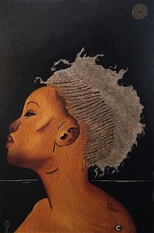 """Egypt Acrylic & Oil on Canvas 36"""" x 24"""""""
